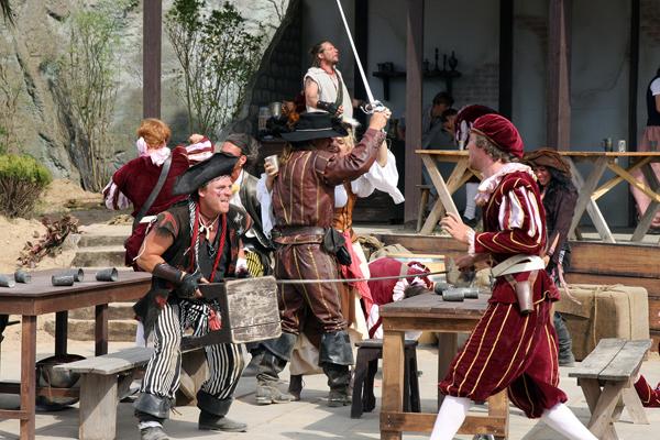 Die Schatzinsel, Piraten-Action-Theater